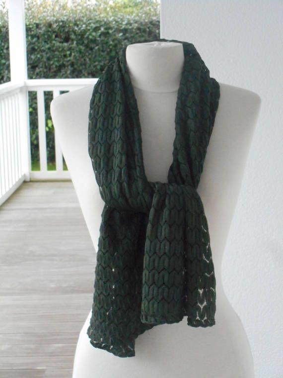 Etole écharpe foulard dentelle kaki femme lin eva   étole dentelle ... 4753e58feba