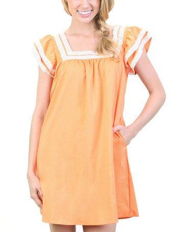 Love this Melon Garance Peasant Dress on #zulily!