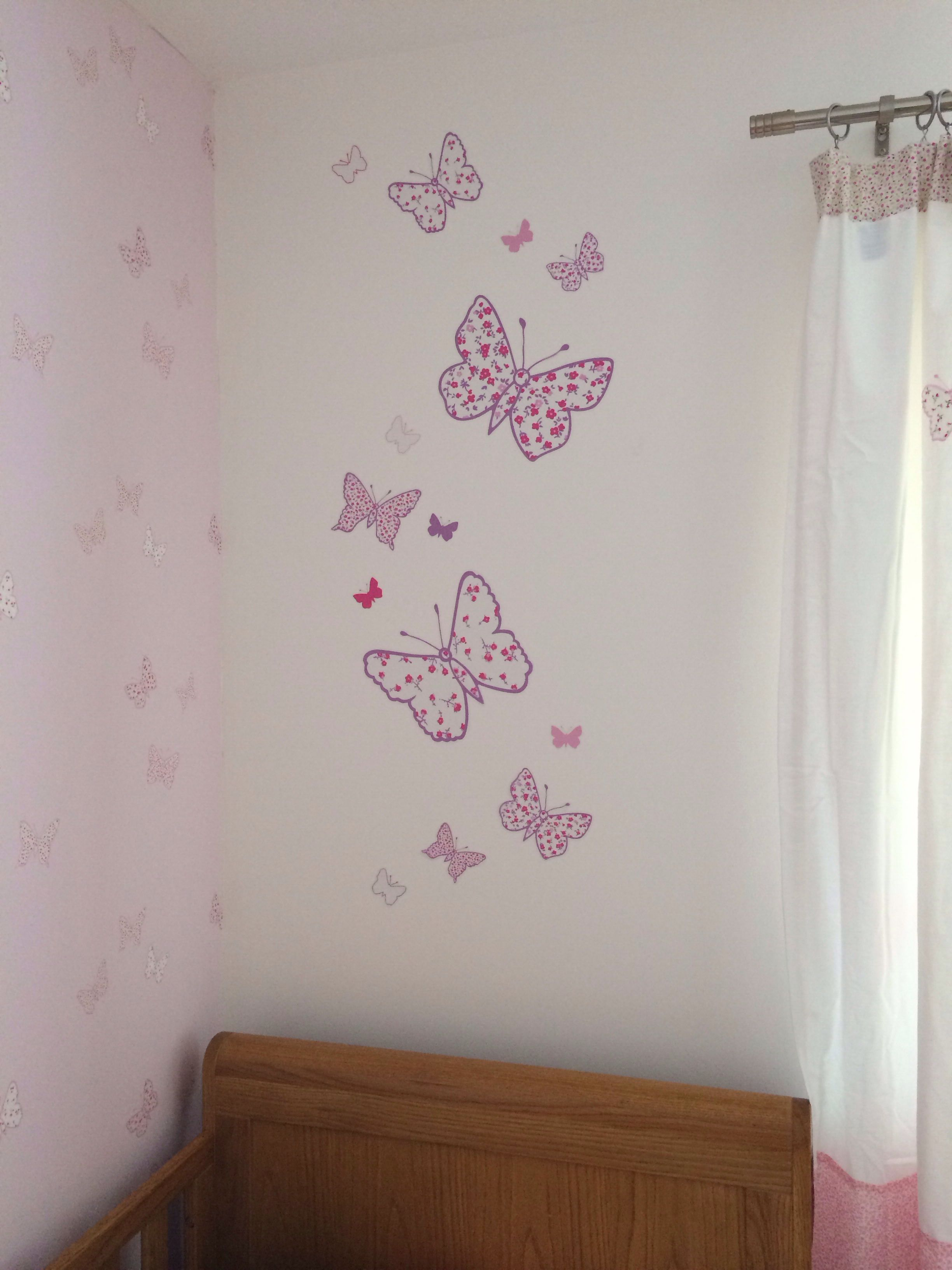 Butterfly Bedroom Themes Laura Ashley Bella Butterfly Wall Stickers Girls Bedroom