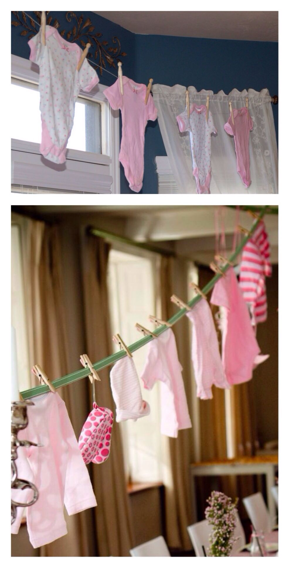 Hang Baby Clothes As Banner Doubles As Game Over The Moon