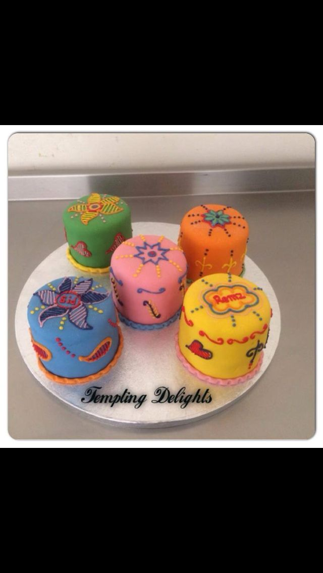 Small menhndi cake