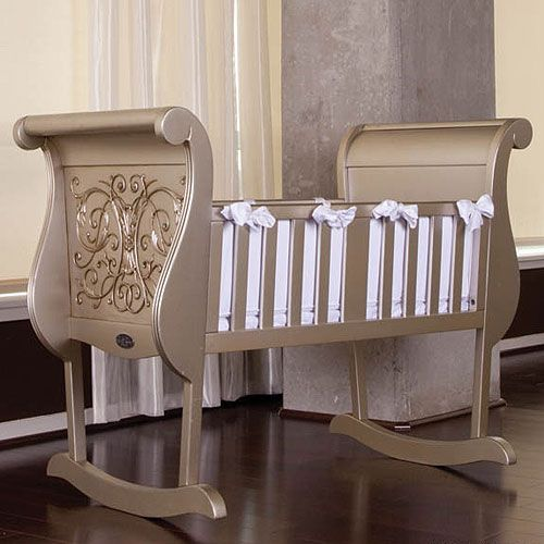 Chelsea Cradle In Antique Silver Luxury Baby Crib Baby