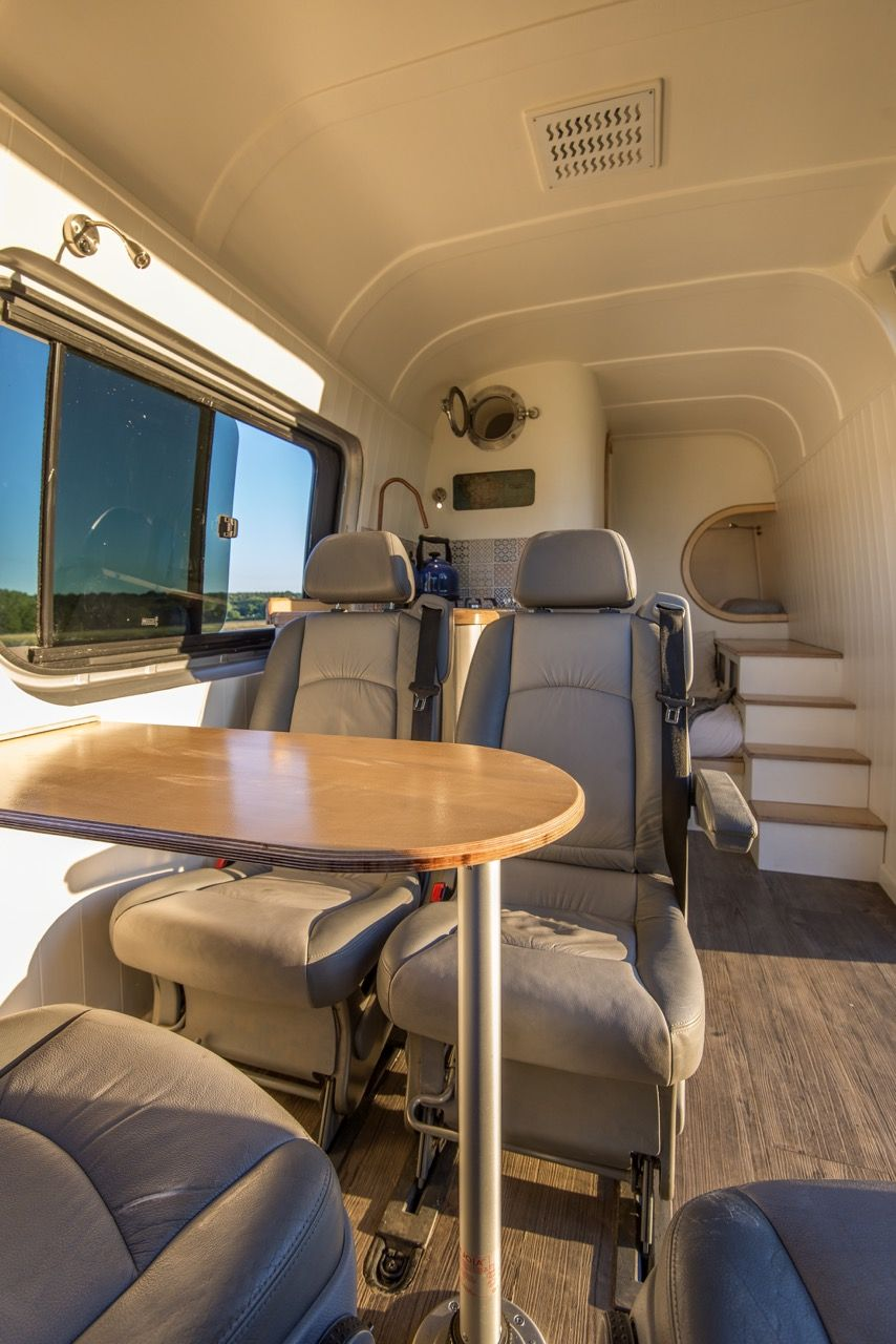 swivel chair mercedes sprinter one and a half gallery of the camper van conversion built in oxford, england. | camping rv's ...