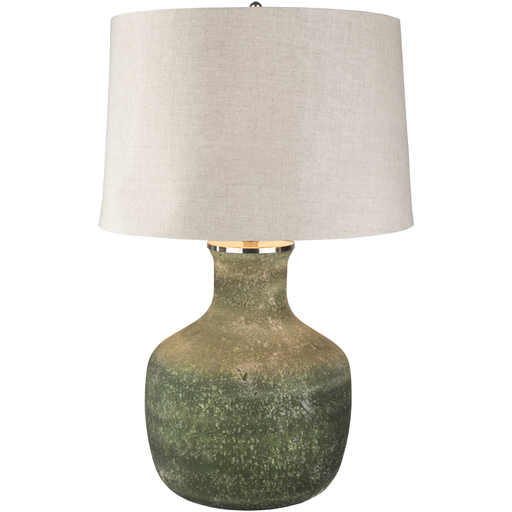 Green Salt Glazed Lamp Rustic Lamp Shades Grey Table