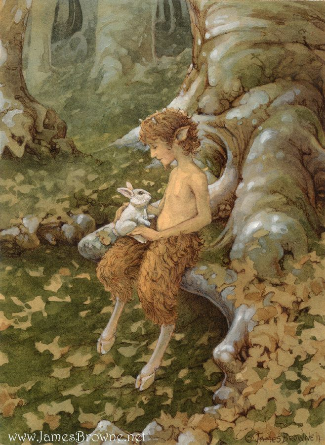 The White Hare and Faun by James Brown - brownieman on Etsy. | ILLUSTRATIONS | Mytologi ...