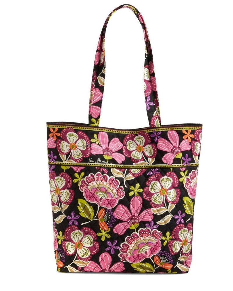 5c902b90e5 Vera Bradley Tote with Solid Color Interior (Updated Version) Pirouette  P... New  doesnotapply