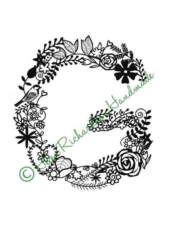 Floral alphabet letter g paper cutting template for commercial use hey i found this really awesome etsy listing at httpsetsylisting205897312floral alphabet letter g paper cutting spiritdancerdesigns Choice Image