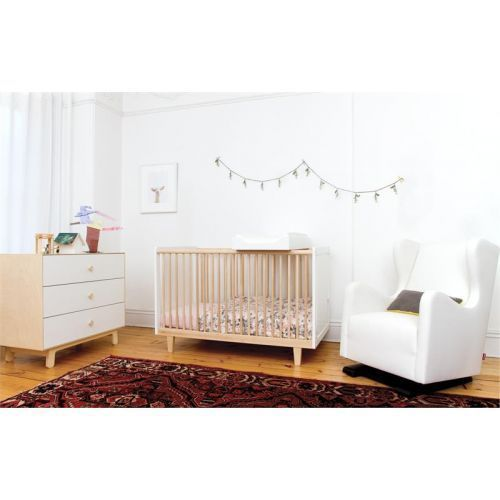 Oeuf Rhea Cot - White and Birch   Diddle Tinkers kids nursery ...