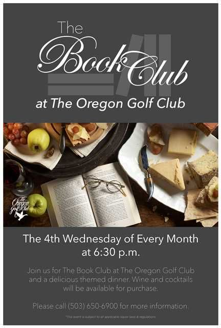 the book club flyer poster template at the oregon golf club book