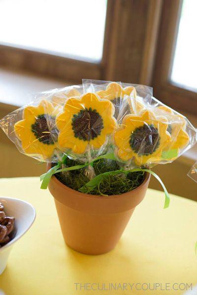 sunflower bridal shower sunflower bridalshower cookies