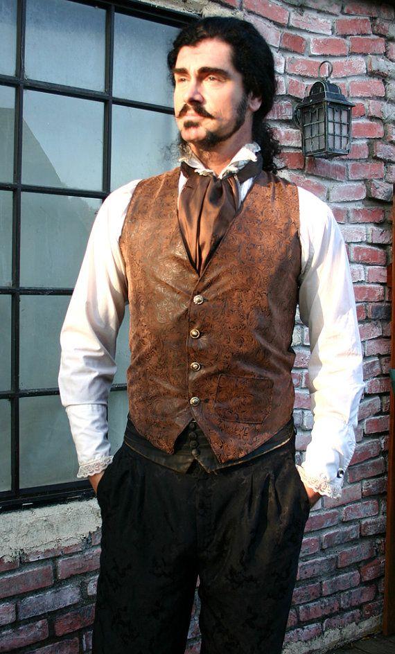 É marrom e preto utilizado ferramentas do falso couro Gentlemen Steampunk Vest