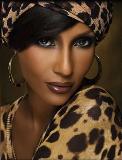 beautiful iman luv the leopard turban animal print. Black Bedroom Furniture Sets. Home Design Ideas