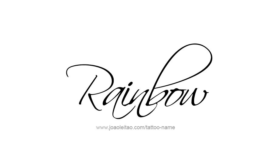 Rainbow Name Tattoo Designs Name Tattoos Name Tattoo