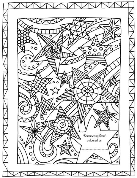 Shimmering Stars Picture From Colour With Mum A Colouring Book To Share