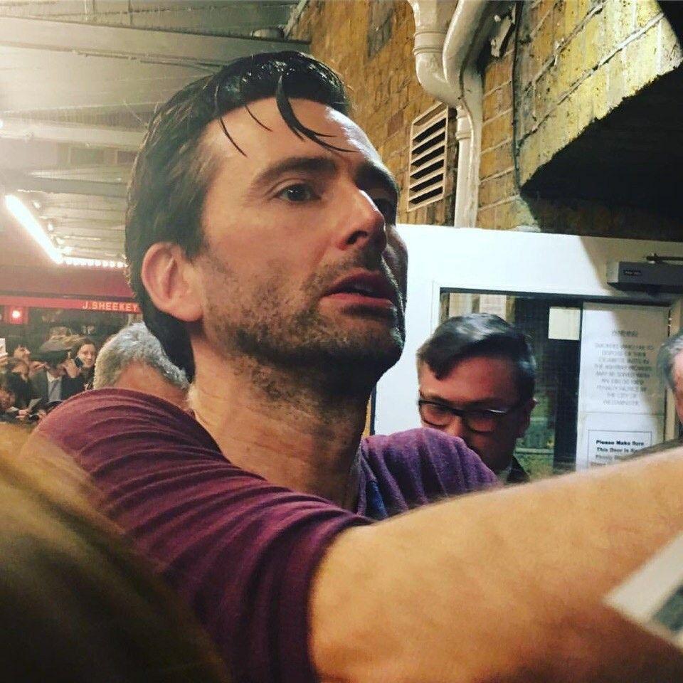 David at the stage door