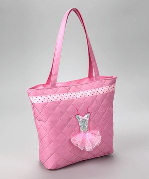 Look at this #zulilyfind! Charla's Place Pink Quilted Tutu Tote by Charla's Place #zulilyfinds