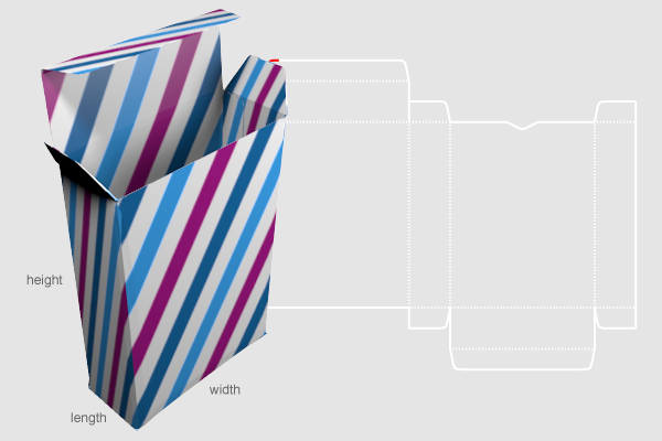 Custom Box Template Generator Preview Of Template Dimensions And