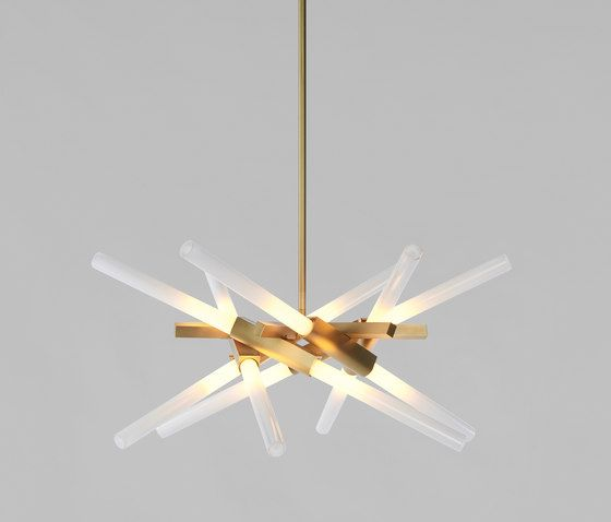 Astral agnes 12 lights brushed brass by roll hill
