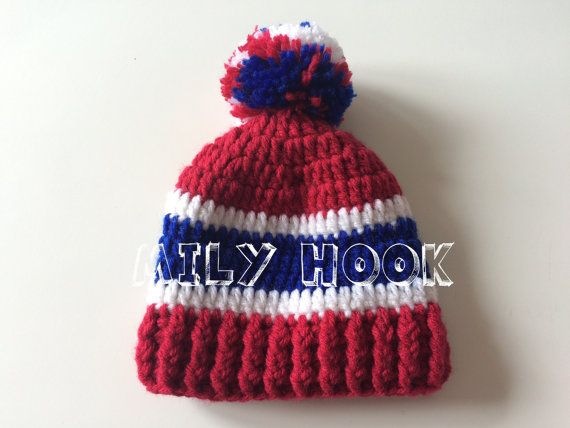 Tuque inspired hockey team the Montreal canadiens baby boy 0 to 3 ...