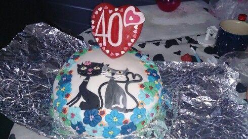 40 jarig huwelijks taart