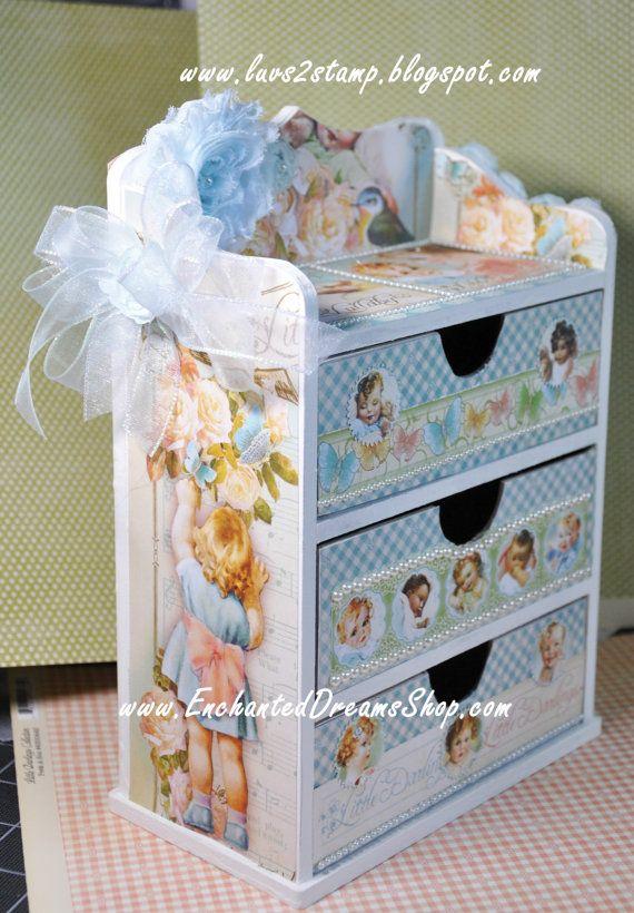 Little Darlings 8 x 8 paperpad cardstock by EnchantedDreamsShop, $9.95