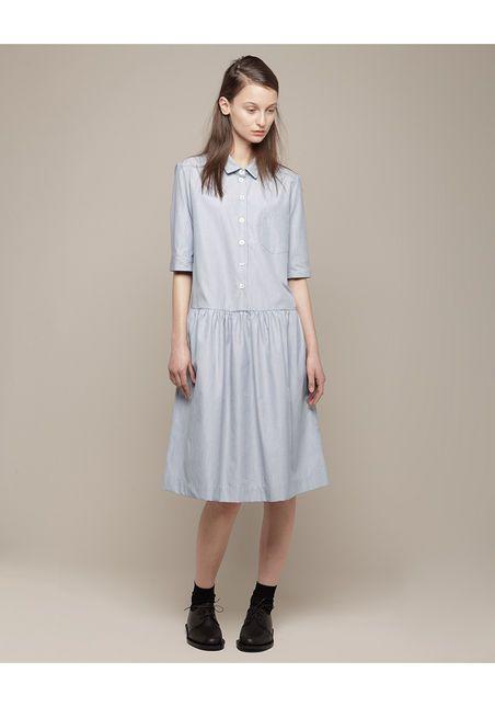 margaret howell drop waist shift dress