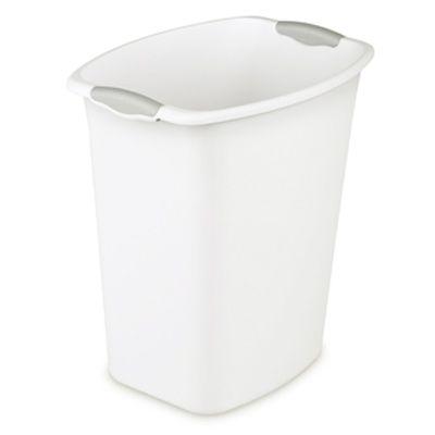 Sterilite bote papelero rectangular sin tapa blanco 5 gal   19 litros 21230c62e1a0