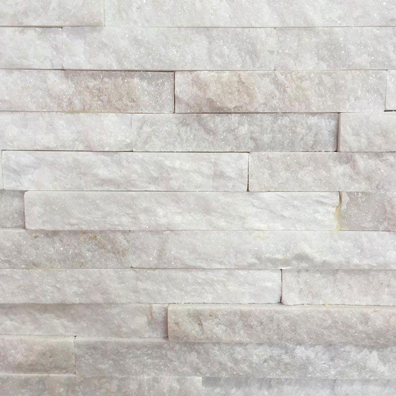 10x40cm White Quartz Split Face Tile