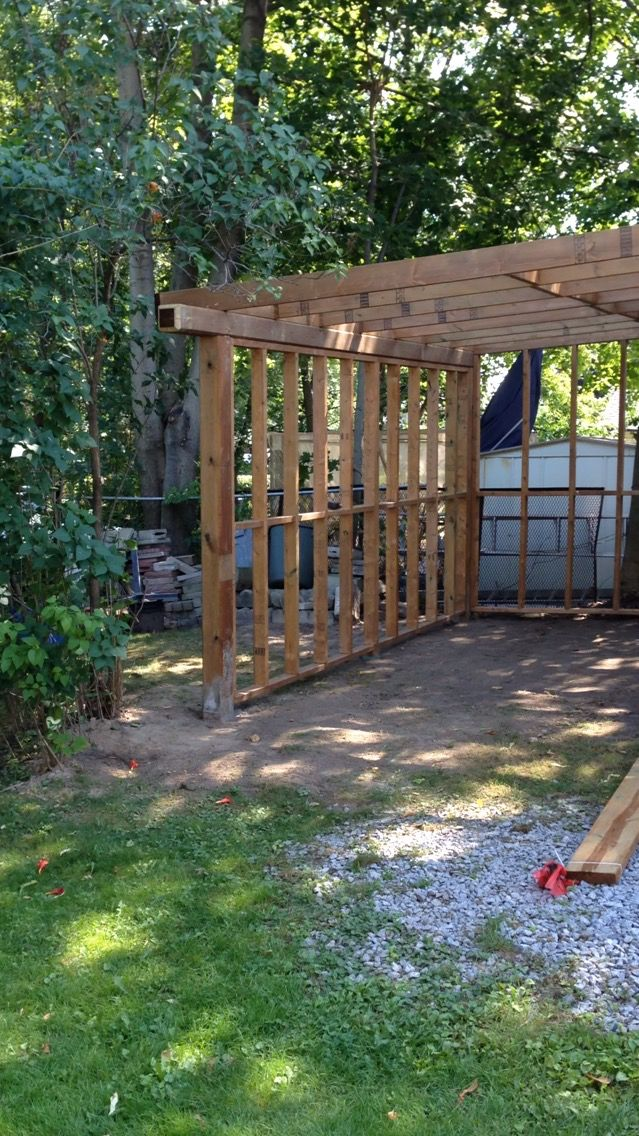 Building Lean To Off Of Garage In Backyard Backyard Pergola