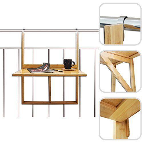 Todeco tag re de balcon design en bambou petite tablette d appoint plian - Etagere pliante ikea ...