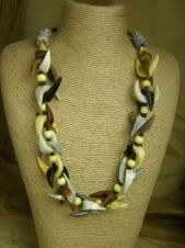 Brown Tone Ethnic Style Bone Necklace
