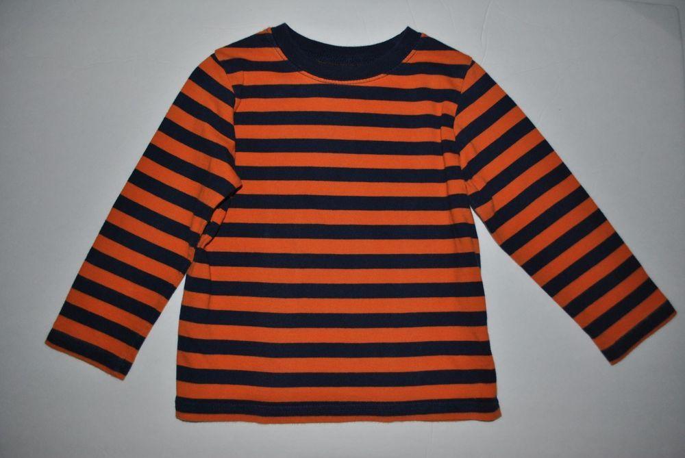 Circo toddler boys long sleeve orange navy blue striped t for Navy blue striped long sleeve shirt