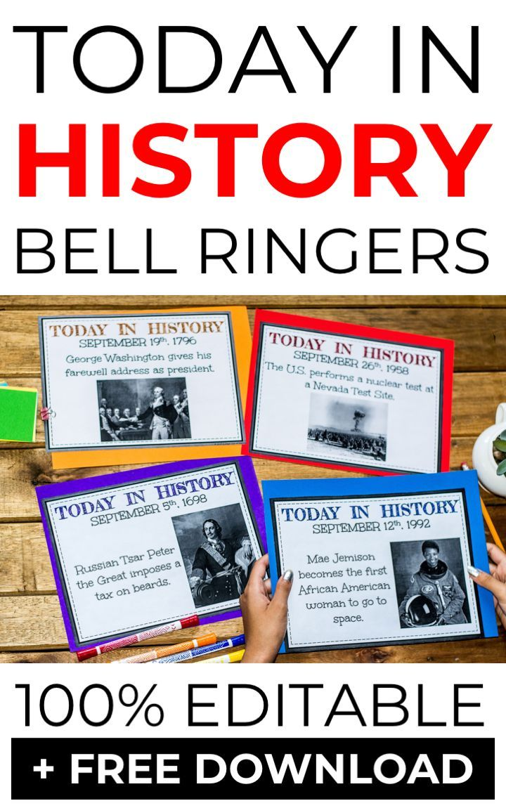 Photo of Today in History Bell-Ringers for the Entire Year – A Page Out of History