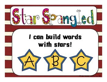 This star-themed word work packet can be used to supplement a study on elections or America!  It can also be used as part of a Hollywood or Rockstar themed unit!  The recording sheet has four different variations to allow you to choose the theme that works best for you and fits your purposes! :)  Simply print, cut out the letters, laminate, and stick this in your word work center.