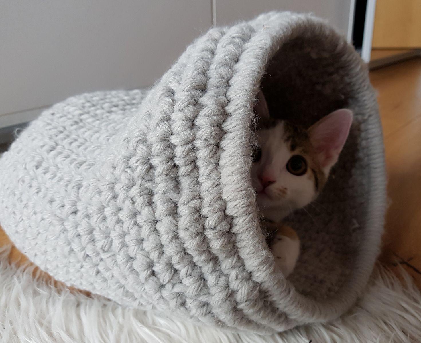Modèle de crochet de grotte de chat   – Katze