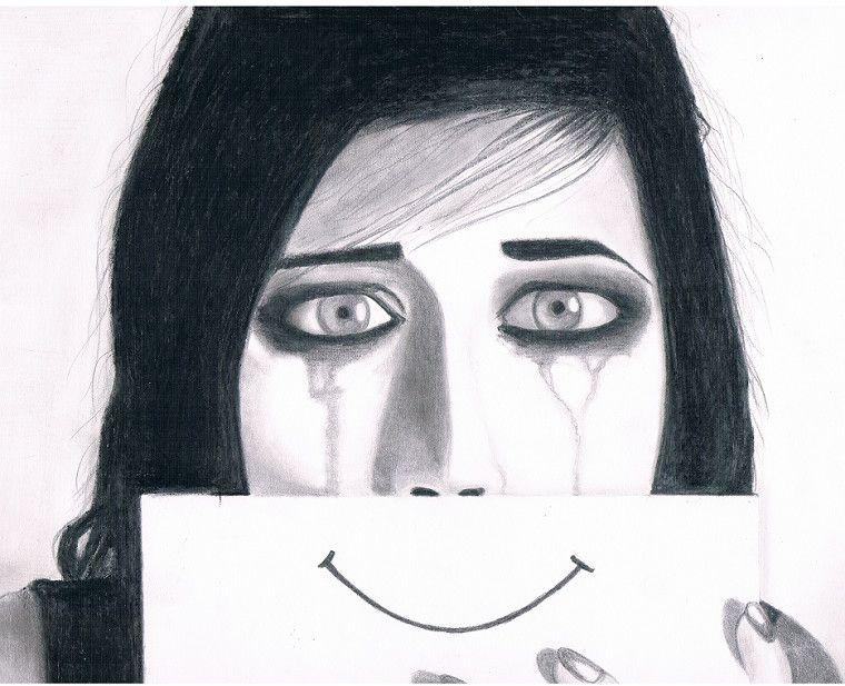 Pencil sketchessad girl by pencilreaper