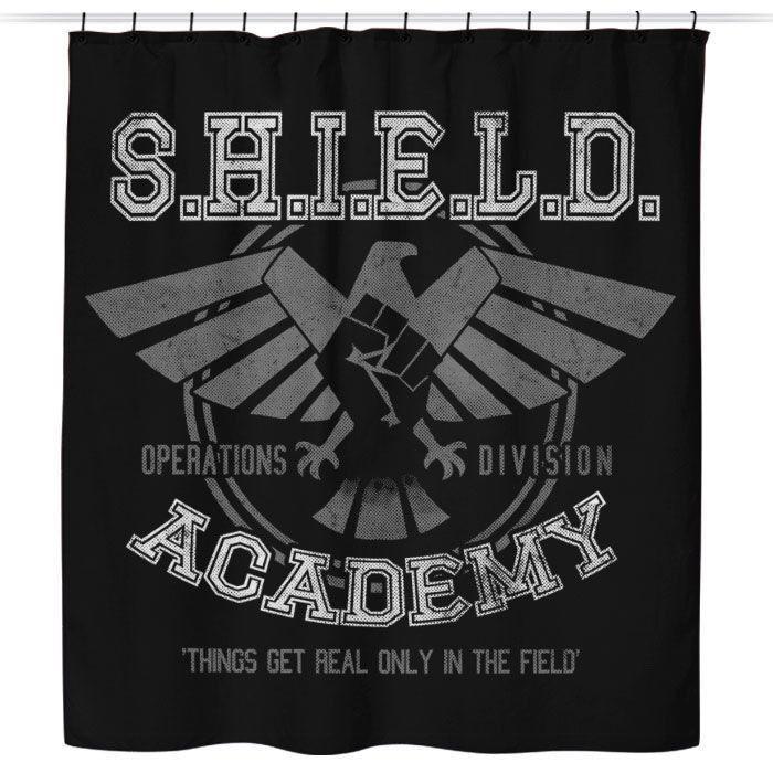 Shield Academy Shower Curtain Agents Of Shield Deadpool Fan