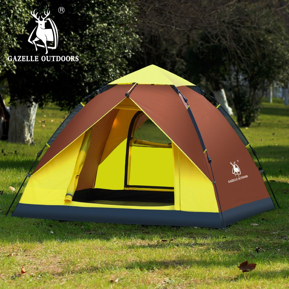 person tent outdoor camping automatic open tent second open