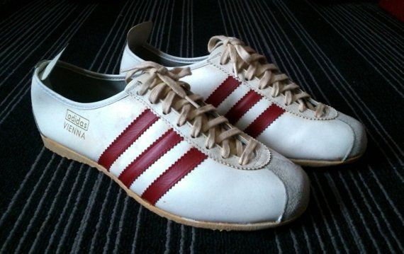 Super Rare 60s 70s Vintage Adidas Vienna shoes made in