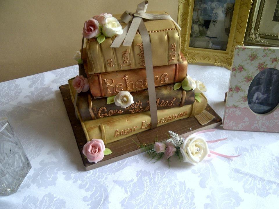 Book cake how amazing gosfieldhall weddingcake book
