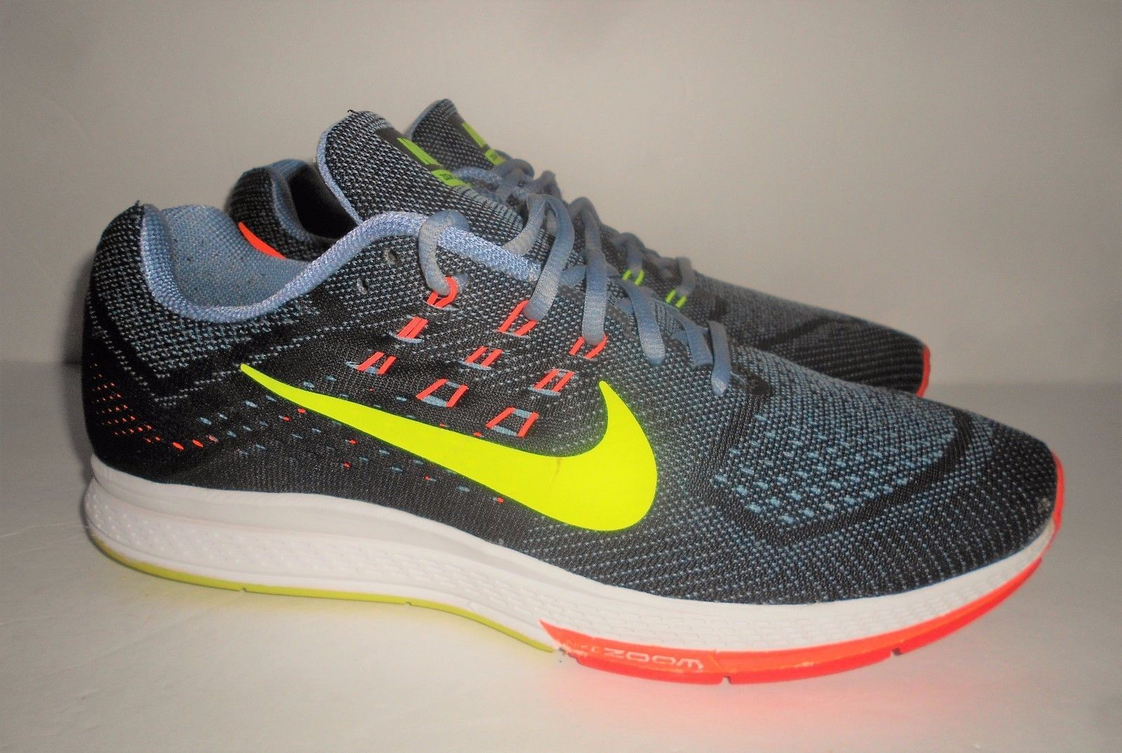 separation shoes 44339 b0c0e NIKE AIR ZOOM STRUCTURE 18 MENS RUNNING SHOES Sz 12 BLACK  VOLT 683731 001  GREEN