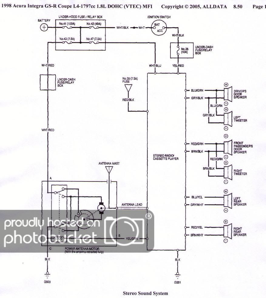 circuit amplifier wire, circuit, diagram 1990 Acura Integra Wiring-Diagram
