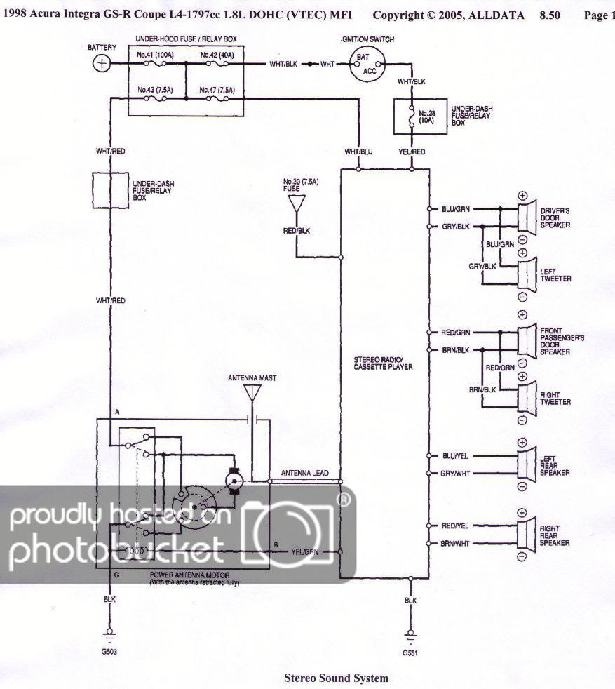 97 1998 98 acura integra 71687a on 90 integra engine wiring harness  kawasaki bajaj ct 100 wiring diagram #13