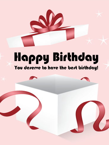 Birthday Gift Box ECard