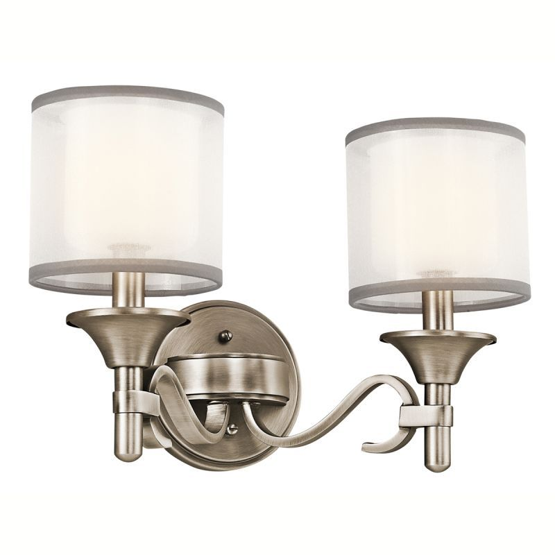 kichler 45282 lacey 14 wide 2 bulb bathroom lighting fixture