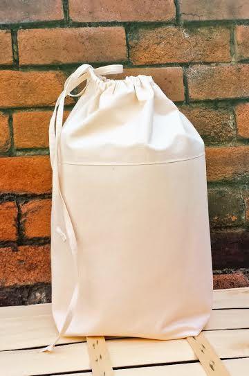 Denim Canvas Laundry Bag Extra Sturdy Luxury Cotton Canvas Fabric