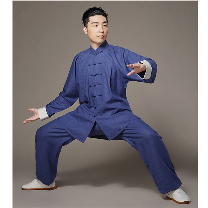 3pcs Wing Chun Kung Fu Outfits Uniform Bruce Lee Costume Martial Arts Clothing