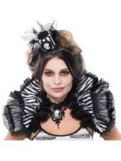 RUCHE!!! Black and Bone Shrug for Adults - Party City