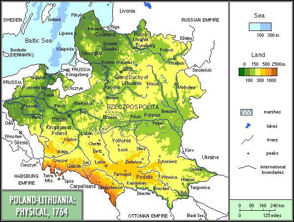 Polandphysical PolishLithuanian Commonwealth Wikipedia - Lithuania physical map