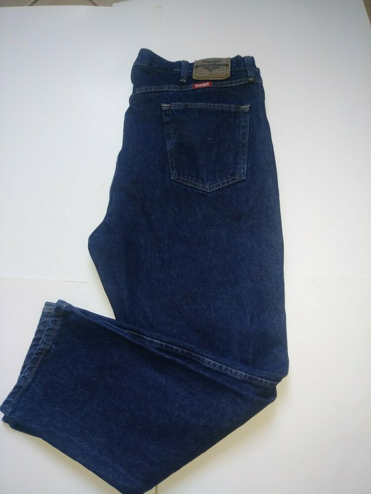 "/""Classic Wrangler Regular Relaxed Fit Texas Stretch Vintage Denim Jeans For Men/"""